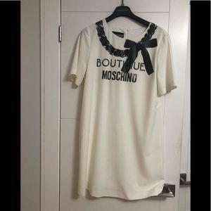 Moschino Boutique/Size 10/White & Black Dress